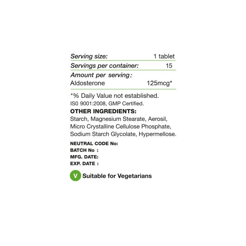aldosterone label